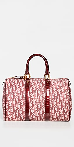 What Goes Around Comes Around - Dior Burgundy Trotter Boston Bag