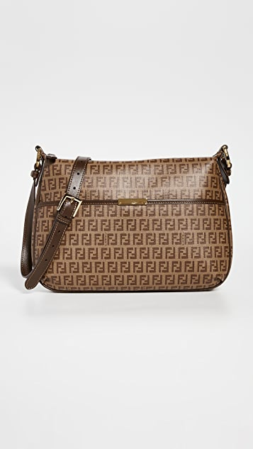 What Goes Around Comes Around Fendi Brown Coated Canvas Crossbody Bag