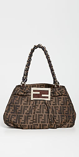 What Goes Around Comes Around - Fendi Brown Zucca Mia Small Bag