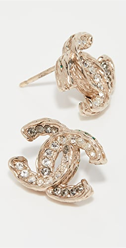 What Goes Around Comes Around - Chanel Crystal CC Earrings