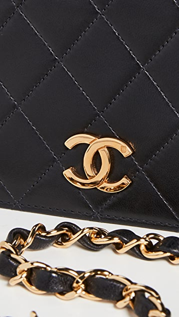 What Goes Around Comes Around Chanel Black Snap Full Flap Mini Bag