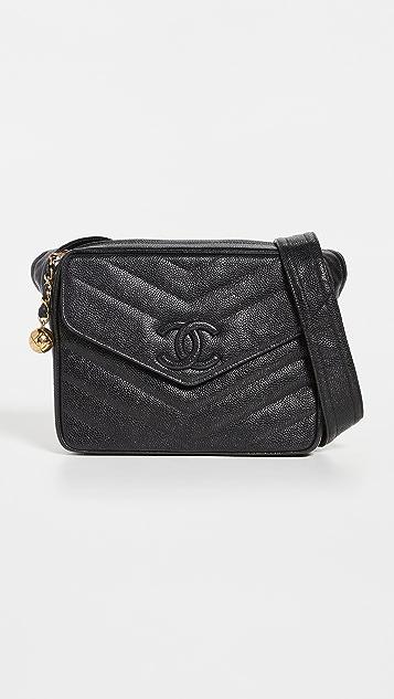 What Goes Around Comes Around Chanel Black Caviar Shoulder Bag