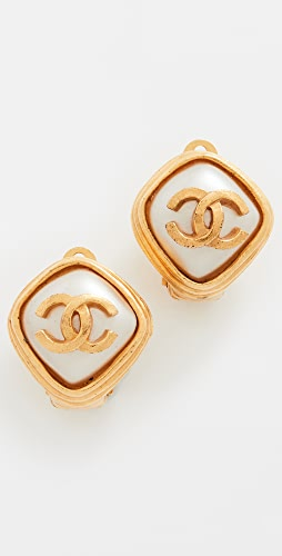 What Goes Around Comes Around - Chanel Gold Pearl Earrings
