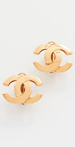What Goes Around Comes Around - Chanel Gold CC Earrings