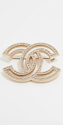 What Goes Around Comes Around - Chanel Gold Crystal CC Pin