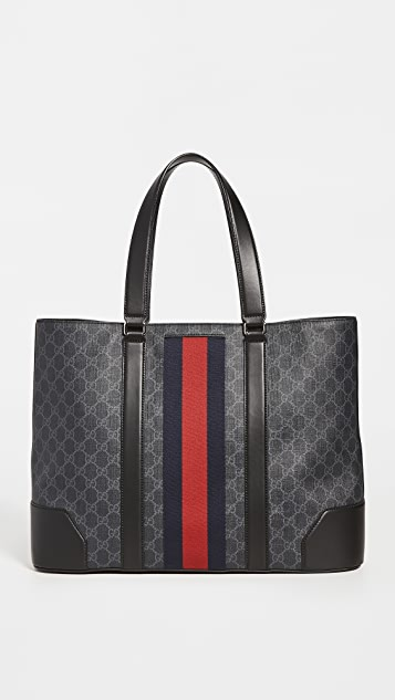 What Goes Around Comes Around Gucci Web Tote Bag