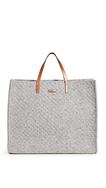 What Goes Around Comes Around Gucci Felt Tote Bag