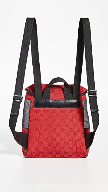 What Goes Around Comes Around Gucci Canvas Backpack