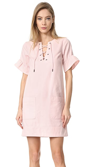 Whistles Rosa Lace Tie Front Dress