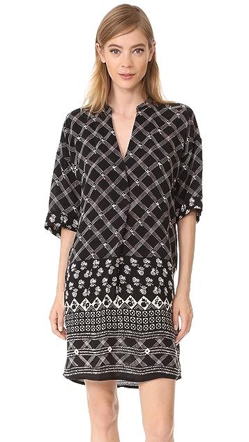 Whistles Cross Hatch Print Dress