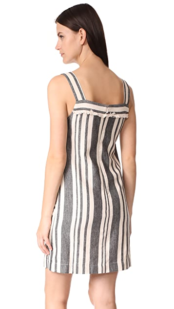 Whistles Cici Stripe Bardot Dress