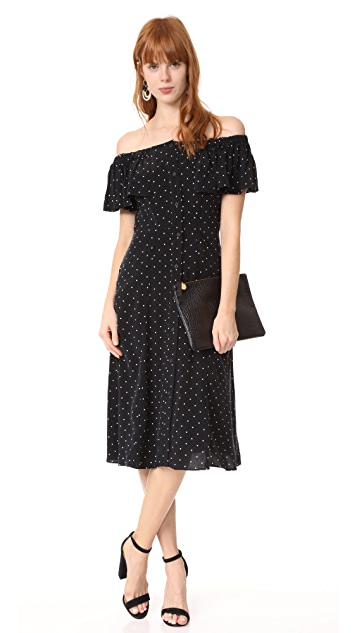 Whistles Spot Cold Shoulder Dress