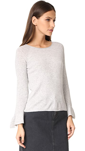Whistles Frill Wide Sleeve Knit