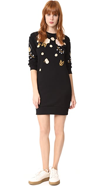 Whistles Embroidered Sweatshirt Dress