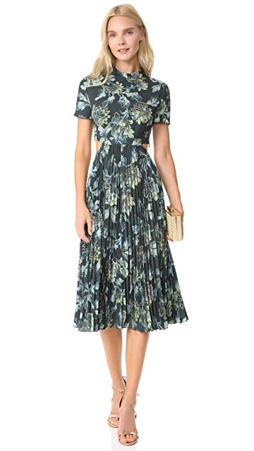 Whistles Lyle Print Alexandra Pleated Dress