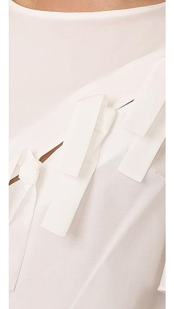 Whit Tie Top