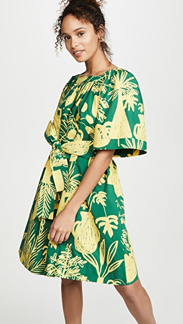 Whit Mira Dress - Green/Yellow