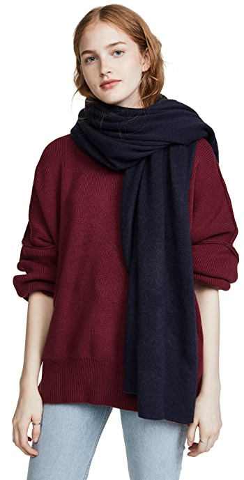 White + Warren Cashmere Travel Wrap Scarf - Deep Navy