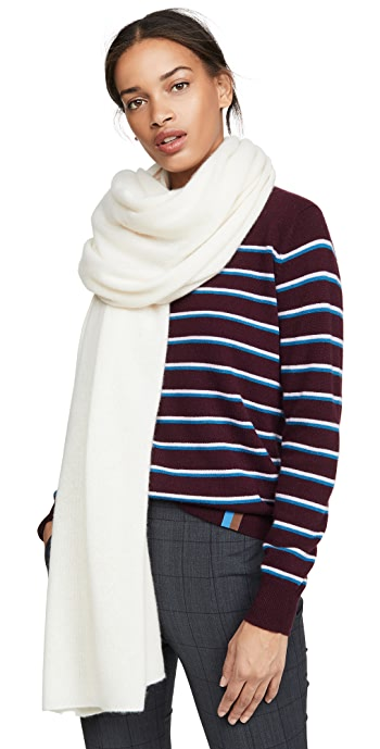 White + Warren Cashmere Travel Wrap Scarf - Pearl White