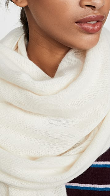 White + Warren 开司米羊绒旅行裹身式围巾