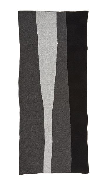 White + Warren Cashmere Color Spliced Travel Wrap