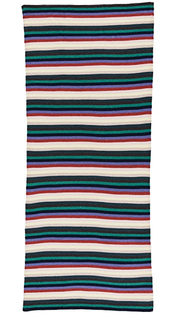 White + Warren Cashmere Stripe Travel Wrap Scarf