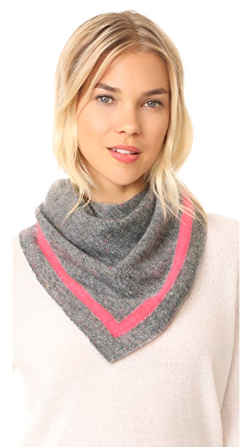 White + Warren Cashmere Tipped Neck Scarf