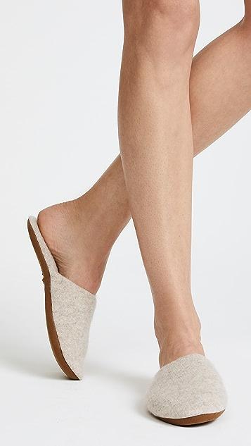 White + Warren Cashmere Slide Slippers