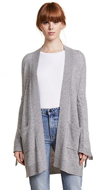 White + Warren Tie Cuff Cardigan
