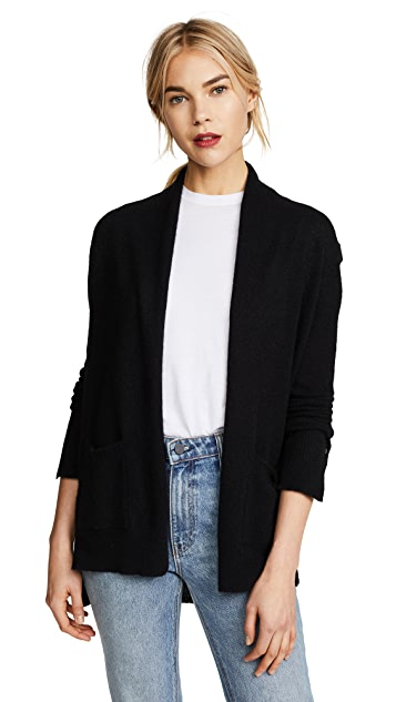 White + Warren Patch Pocket Cardigan Robe