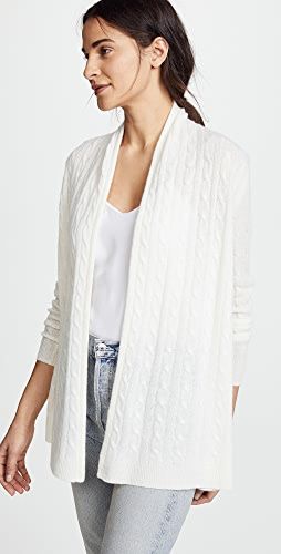 White + Warren - Cable Cardigan