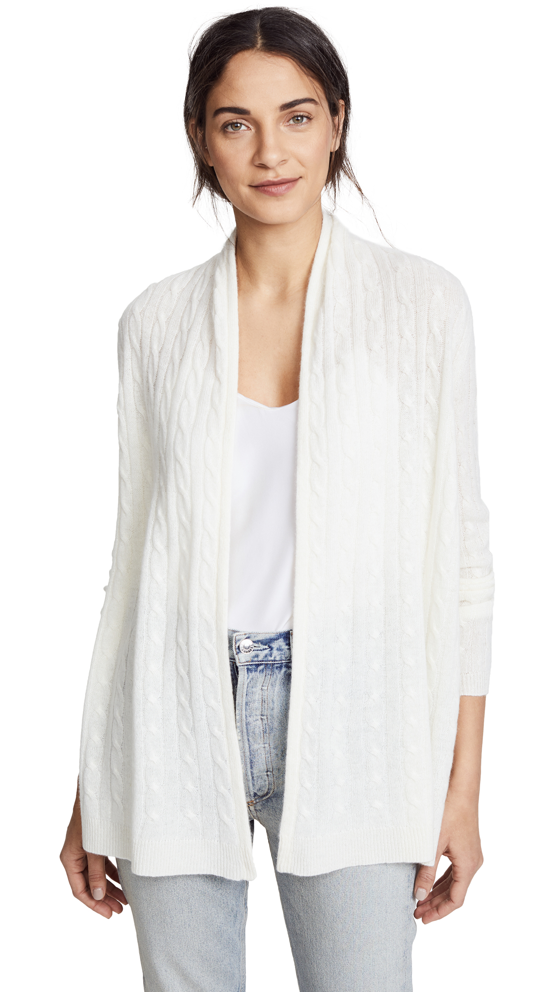 White + Warren Cable Cardigan