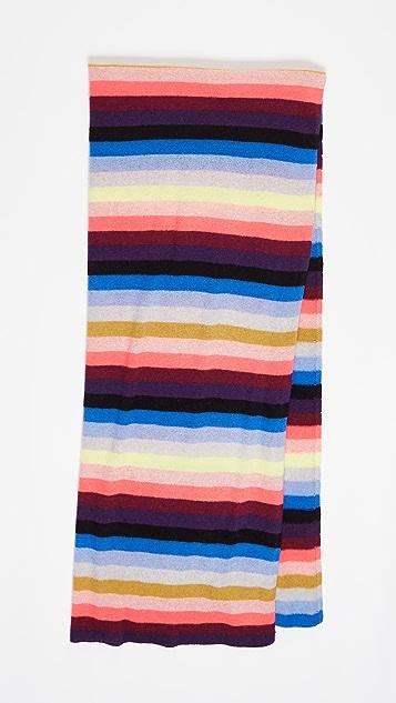 White + Warren Cashmere Striped Wrap Scarf