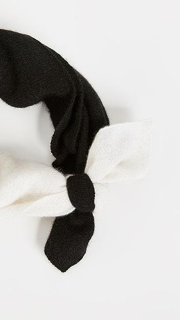 White + Warren Кашемировый шейный платок с цветными блоками