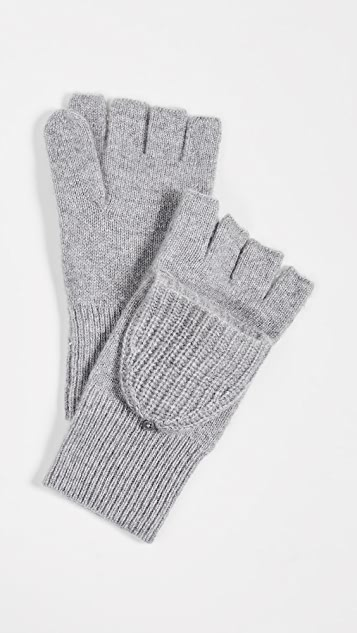 White + Warren Cashmere Pop Top Gloves