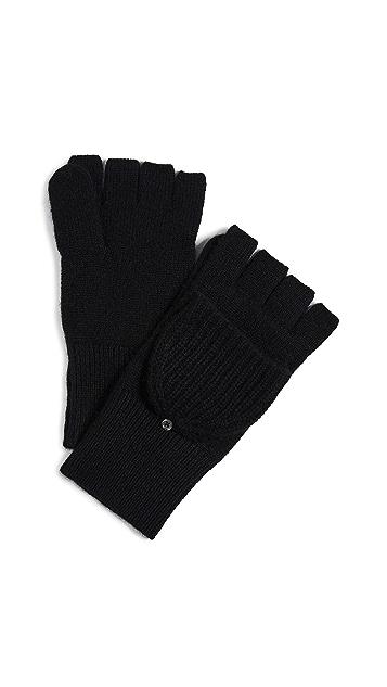 White + Warren Cashmere Pop Top Gloves