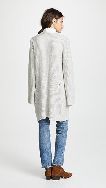 White + Warren Luxe Stitch Cashmere Coatigan