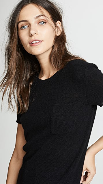 White + Warren Cashmere Essential Pocket Tee