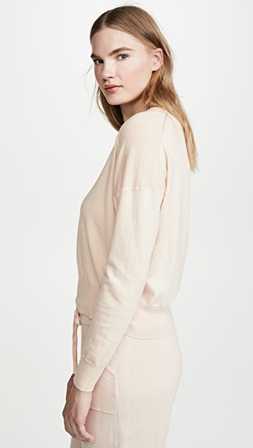 White + Warren Drop Shoulder Sweatshirt