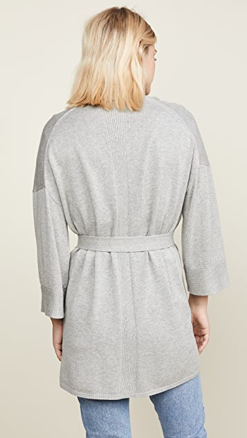 White + Warren Belted Cardigan