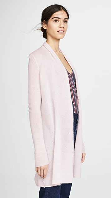 White + Warren Essential Trapeze Cashmere Cardigan