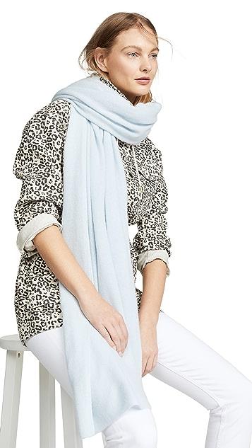 White + Warren 旅行风格环绕式开司米羊绒围巾