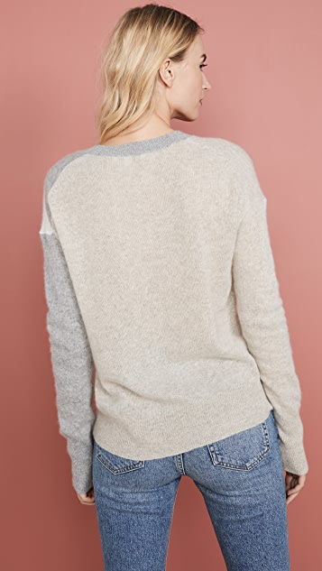 White + Warren Exploded Star Cashmere Sweater