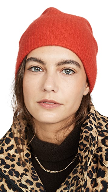 White + Warren Plush Rib Cashmere Beanie