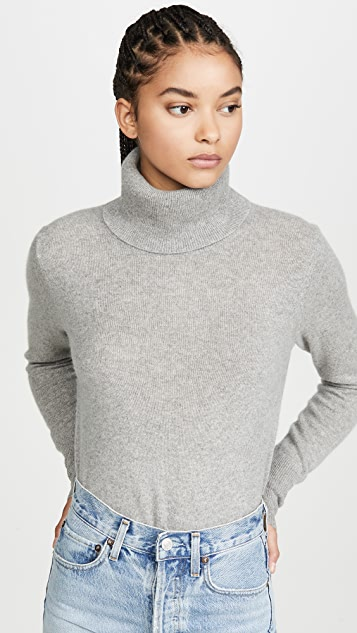 White + Warren Essential Cashmere Turtleneck Sweater