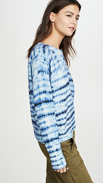 White + Warren Essential Tie Dye Cashmere Sweater