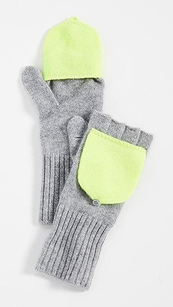 White + Warren Pop Top Cashmere Gloves