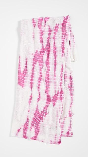 White + Warren Mini Tie Dye Cashmere Travel Wrap