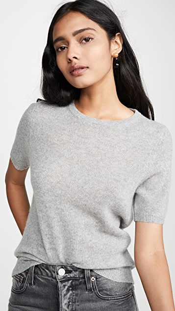 White + Warren Cashmere Essential Fitted Sweater Tee