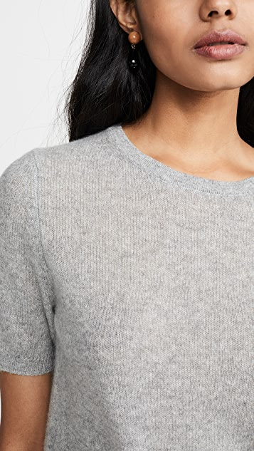 White + Warren Essential Fitted Cashmere Sweater Tee